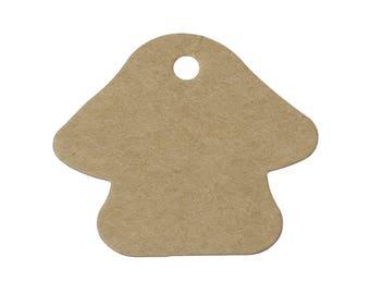 Étiquettes en forme de champignon - Ensemble de 10 ou 50