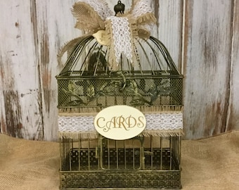 Card Holder-Wedding Birdcage Card Holder-Wedding Card Box Bride and Groom Wedding Decor