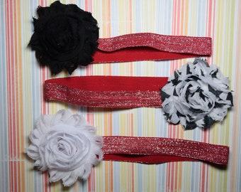 Set of 3 flower headbands - 3-6 months