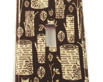 Light Switch Plate Wall Decor Single Light Switchplate in  Storybook Forest   (195S)