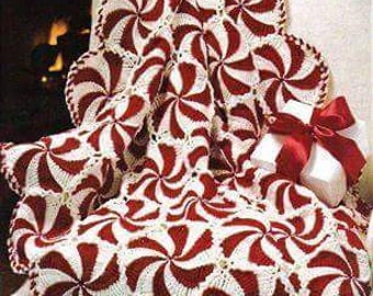 Peppermint Candy Christmas Afghan