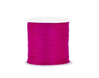 X 2 metres of Pink Purple cotton thread, making friendship bracelets