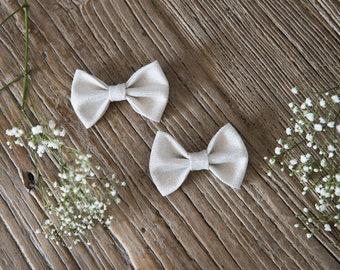 TERESA Hair Ribbons COMBO-Mini//white fabric