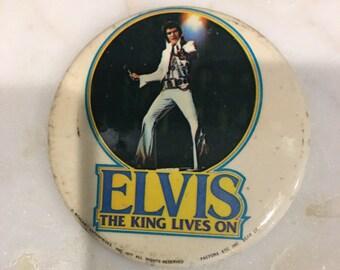 Vintage 70's Elvis Presley Button