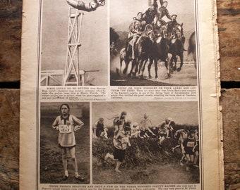 Vintage 1920's Chicago Sunday Tribune Rotogravure (Photo Section)
