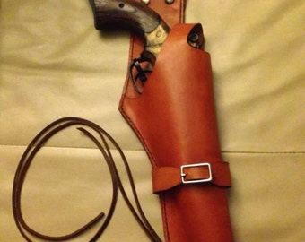Leather Sci-Fi Steampunk Gun Holster  (Gun not included)