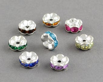 Bead spacer 1.5 to 3.5 thick wavy disc