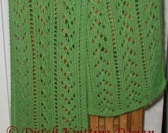 PDF knitting pattern lace scarf, neckwarmer, shawl