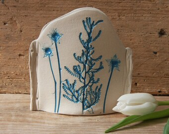 House Warming Gift, Turquoise, Natural Vase, Real Pressed Flowers, Ceramic Vase, Pen Pot, Hand Built, Quirky