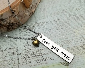 Love You More Necklace - Gift For Her - Mother Daughter Jewelry