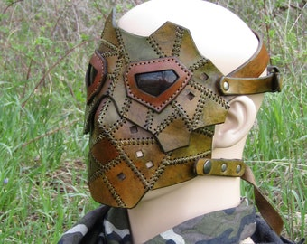 Forest Dweller Multi tone Leather Mask Post Apocalyptic Borderlands Dystopia Rising Cosplay