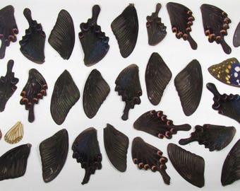 Real wings of butterflies. For jewelry, accessories. Billets for work from resin. For needlework. Many butterfly wings.Earrings, pendants.