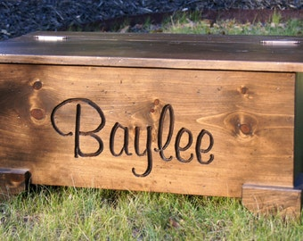 Toy Chest/Toy box/ Personalized/hope chest/ Chest/ Baby Toy /Gift/hand carved