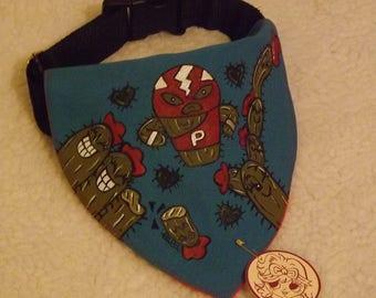 """Dog handkerchief """"Mexican Cactus"""""""
