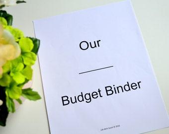 18 PAGE Printable Budget Binder, INSTANT DOWNLOAD, Finance Planner, Cheap Budget Binder Printable, Budget Planner, Household Binder