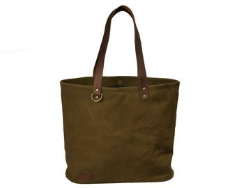 Waxed Canvas Bag, Market Bag & Shopping Bag by Bayfield Bags