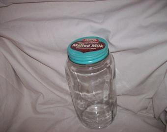 Kraft Chocolate Malted Milk Jar
