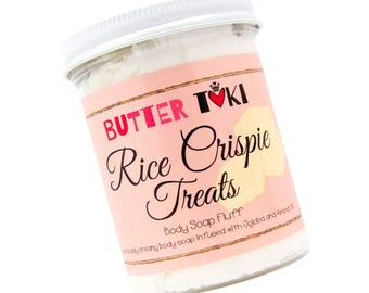 RICE CRISPIE TREATS Whipped Body Soap Fluff Sample Size 1oz - Marshmallow Soap - Whipped Soap - Cream Soap