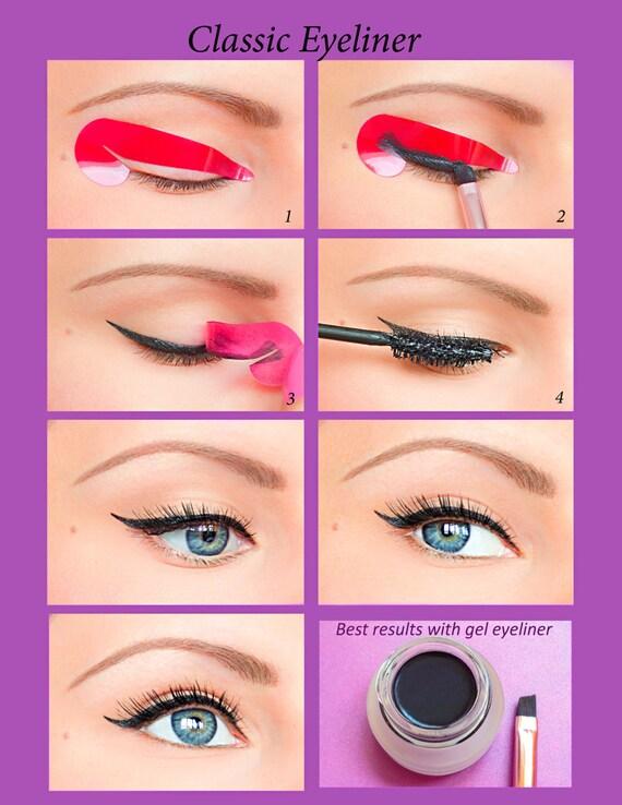 80 pcs Quick Eyeliner Stickies Stencils Cosmetic Eye Makeup