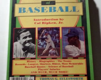 Kids World Almanac Of Baseball paperback book 1990 history teams records more