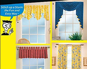 Simplicity Pattern 9566 Sewing Patterns for Dummies Window Treatments from Conso