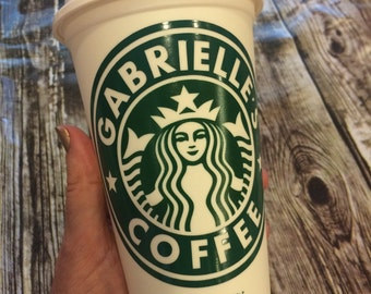 Travel Coffee Tumbler • Personalized Starbucks Cup • Travel Tumbler Coffee Mug or Tea Cup (Genuine Starbucks Cup, Reusable) [gift idea]