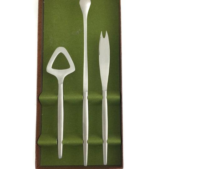 Mid Century Stainless Steel Bar Tools by Kalmar Designs