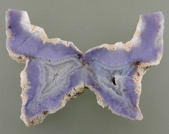 Purple Chalcedony Sculpt, Purple Chalcedony Butterfly, Majestic Purple Chalcedony, Gift Butterfly, C3168, 49erMinerals