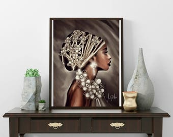 Printing sheet, illustrations, drawings, ethnic plates, African art, African Decoration, Africa, African poster, African woman, ethnic