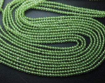 13 Inches Super Finest Cut--AAA--Quality Peridot Faceted Rondelles Size 3mm