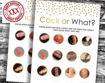 Cock or What Bachelorette Party Game, Crude Party Games, Bachelorette Printable Game, Bachelorette Weekend, Rude Hen Party Games, Willy Game