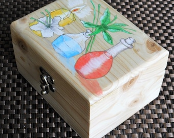 Aromatherapy oils storage box