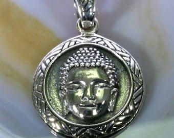 Buddha pendant 925 sterling silver  -- 4527