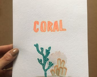 Coral Reef Watercolor Painting