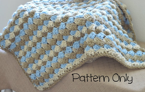 Items Similar To No Vat Email Crochet Pattern Baby Afghan Pattern