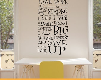 Have Hope | Home Office Kitchen Nursery Inspirational Quotes | Removable Wall Decal Sticker | MS120VC