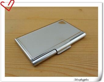 Business card blanks etsy business card holder metal card case blank card holder frame nickel 93cm x 6cm ac59 colourmoves
