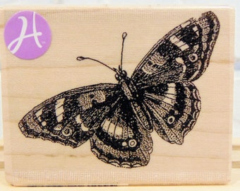 Vintage Butterfly - wood mounted rubber stamp
