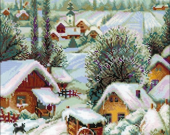 "Serbian Village-RIOLIS Counted Cross Stitch Kit 15.75""X15.75"" (Pre-Order)"