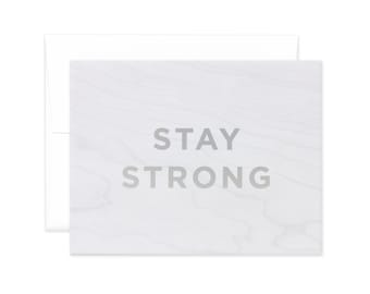 "Faux Bois ""Stay Strong"" Greeting Card"