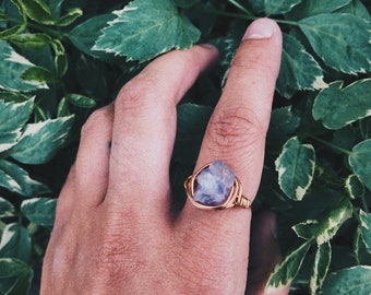 Wrapped Amethyst Ring