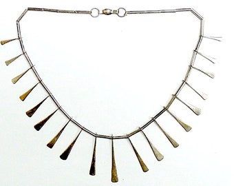 Taxco Sterling Silver Necklace Mexican Silver Collar Necklace