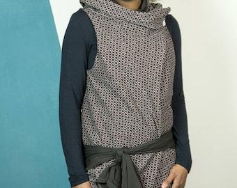 Convertible dress ... vest woman. women's jacket. a wrap ... asymmetrical ... transformable clothing ... mamumble ... texture ... Kimbe ... changeable