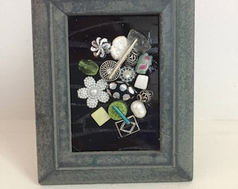 Mini Mixed Media Mosaic Bouquet 2