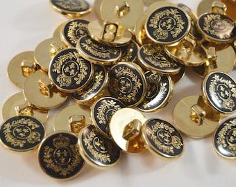 Crown Laurel Fleur de Lis Epoxy Plastic Buttons, Shank Button Art Supply, Garment Closure, Lily Saints Epoxy Louisianna State Card Supply