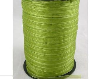 Apple green 6 mm wide organza Ribbon