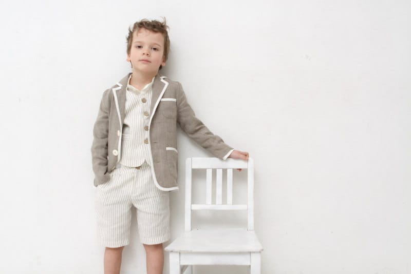 Boys clothing Boys natural linen blazer Toddler boy jacket