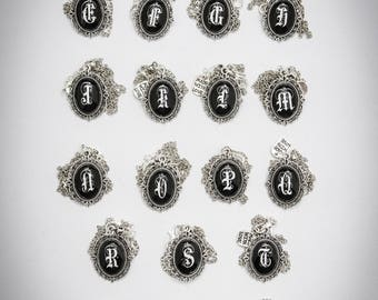 Monogram tiny Cameo,  pic your letter