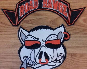 Custom Patches for Jackets Custom Back Patch Biker Patch Custom Patch Rockers