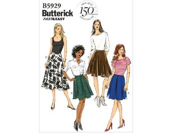 Butterick 5929 - Inverted Pleat or Gored Skirts [out of print]